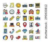 vector doodle icons. | Shutterstock .eps vector #290433812