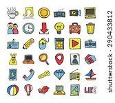vector doodle icons. | Shutterstock .eps vector #290433812