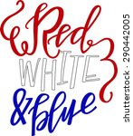 red white and blue | Shutterstock .eps vector #290442005