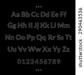 alphabet chalkboard font drawing | Shutterstock .eps vector #290463536