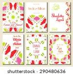 set of perfect wedding card... | Shutterstock .eps vector #290480636