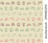 seamless background with aztec... | Shutterstock .eps vector #290482292