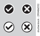 flat design check marks icons. ...