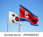 south korea and north korea... | Shutterstock . vector #290486942