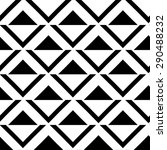 seamless geometric black and... | Shutterstock .eps vector #290488232