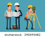 construction and civil... | Shutterstock .eps vector #290493482