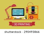cool concept illustration on 3d ... | Shutterstock .eps vector #290493866