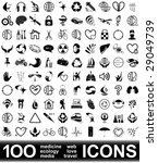 100 vector icons. high... | Shutterstock .eps vector #29049739
