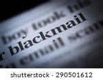 Small photo of Blackmail written newspaper, shallow dof, real newspaper.