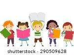 doodle illustration of kids... | Shutterstock .eps vector #290509628