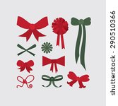 set of different shapes of bows ... | Shutterstock .eps vector #290510366