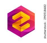 z letter mist or waves hexagon... | Shutterstock .eps vector #290518682