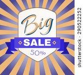 big sale percentage discount... | Shutterstock .eps vector #290522252