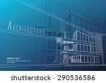 architectural background. | Shutterstock .eps vector #290536586
