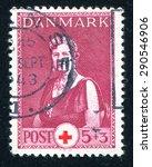 Small photo of DENMARK - CIRCA 1943: stamp printed by Denmark, shows Queen Alexandrine, circa 1943