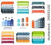 vector arrows lines infographic.... | Shutterstock .eps vector #290552132