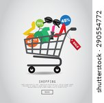 shopping concept | Shutterstock .eps vector #290554772