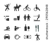 Stock vector life style icons set vector 290562848