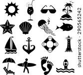 vector icons on the marine theme | Shutterstock .eps vector #290565242