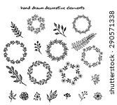 the set of hand drawn vector... | Shutterstock .eps vector #290571338