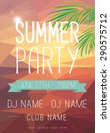 summer party flyer | Shutterstock .eps vector #290575712