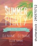summer party flyer | Shutterstock .eps vector #290575712