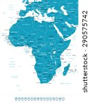 africa   map and navigation... | Shutterstock .eps vector #290575742