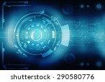 digital abstrct business... | Shutterstock . vector #290580776
