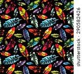 crazy beautiful imprint... | Shutterstock .eps vector #290582426