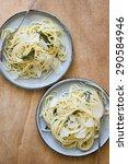 Постер, плакат: Two Plates of Spaghetti