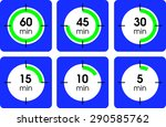 flat time interval icons....