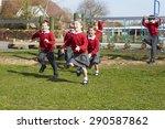 elementary school pupils... | Shutterstock . vector #290587862
