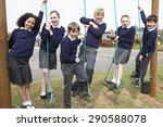 portrait of elementary school... | Shutterstock . vector #290588078