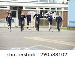 Group Of Elementary School...