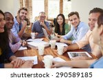 group of office workers meeting ... | Shutterstock . vector #290589185