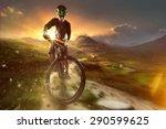 adventure biker   Shutterstock . vector #290599625
