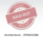 sold out grunge rubber stamp... | Shutterstock .eps vector #290601086