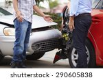 two drivers arguing after... | Shutterstock . vector #290605838