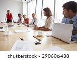 group of businesspeople meeting ... | Shutterstock . vector #290606438