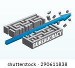 overcoming bureaucracy | Shutterstock .eps vector #290611838