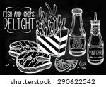 fish   chips set . fast food...   Shutterstock .eps vector #290622542