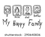 hand drawn vector doodles.... | Shutterstock .eps vector #290640836