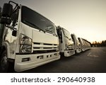 delivery trucks | Shutterstock . vector #290640938