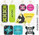 modern pattern labels   Shutterstock .eps vector #29064214
