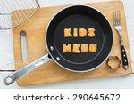 top view of alphabet collage... | Shutterstock . vector #290645672