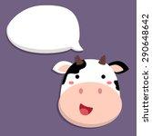 cute cow talking by speech...