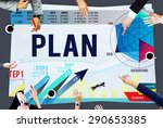 strategy planning vision growth ...   Shutterstock . vector #290653385