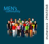 flat  illustration of male... | Shutterstock . vector #290653568