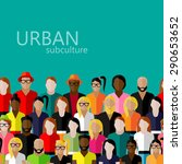 flat  illustration of society... | Shutterstock . vector #290653652