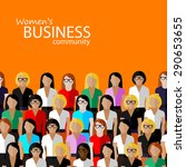flat  illustration of women... | Shutterstock . vector #290653655